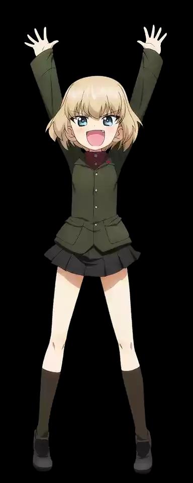 Girls und Panzer Kawashima Momo Uniform Cloth Cosplay Costume