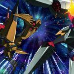 Space King Kittan kicking Arc Gurren Lagann.jpeg