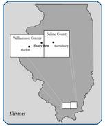 Shady rest roadhouse map (Illinois)