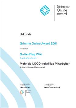 Urkunde Grimme Online Award GuttenPlag.png