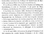 Prosopographie des premiers seigneurs d'Aramon.