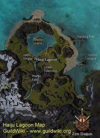 Map showing Teipoa Island and surrounding area of Haiju Lagoon