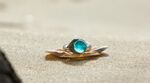 Moon Ring on the Sand