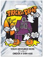 Trick or Treat Reflective Silver Metallic Halloween Bag