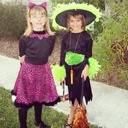 A cat and a witch, circa 2002