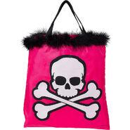 Pink Skull Trick or Treat Bag