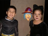 Black Power Ranger and cat, circa 2000