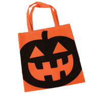 Halloween Pumpkin 16' Candy Trick-or-Treat Tote Bag with Handles, Orange