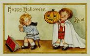 Boo Vintage Halloween Postcard