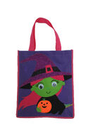 Goggly Eye Witch Halloween Trick Or Treat Tote Bag
