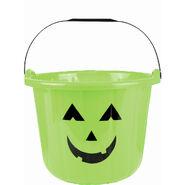 Green Jack-o'-Lantern Treat Bucket