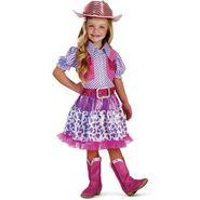 I Wish I Was Cowgirl Pink and Purple Dress Costume