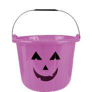 Purple Jack-o'-Lantern Treat Bucket