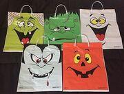 1994 Rubie's Costume Co Halloween Trick Or Treat Bag Set Lot 5 NOS.jpg