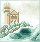 Background wintry castle