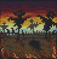 Background spooky scarecrow field