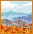 Background flying over an autumn forest