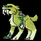 A green sabre cat