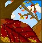 Background giant autumn leaf