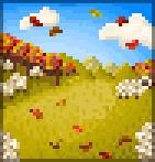 Background herding sheep in autumn