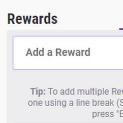 Exemples de récompenses personnalisées