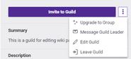 Leader guild options