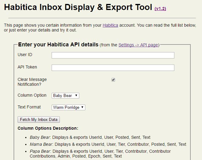 Inbox Display & Export Tool