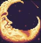 Background crescent moon