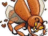 銅頭鉄額の甲虫との戦い