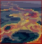 Background river of lava