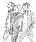 Daichi, Asahi, and Suga Walking Together