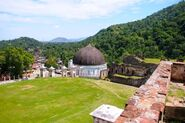 Looking out over Milot and the Milot Chapel from Sans-Souci Palace, Haiti
