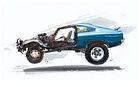 Car concept blue