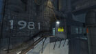Outside Test Subject Waiting Area Building Test Shaft 09 Portal 2