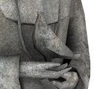 Gravestone statue detail