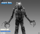 Security Guard Zombie Concept
