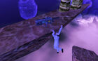 Scientist hanging displacer