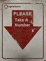Ticket dispenser please