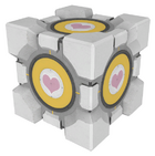 P2 companion cube button