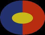 Concept overwatch soldier logo red blue ellips