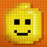 Lego credits logo minifigure happy