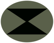 Concept overwatch soldier logo triangles ellipse green