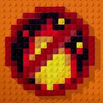 Lego credits logo fire