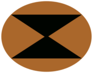 Concept overwatch soldier logo triangles ellipse yellow