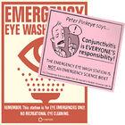 Poster eyewash station