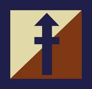 Concept overwatch soldier logo arrow