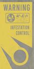 Infestation Control Sign Flat Inversion