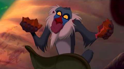 The Lion King Rafiki Learns Simba is Alive HD