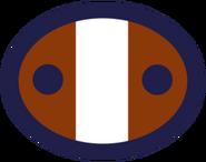 Concept overwatch soldier logo brown blue ellipse