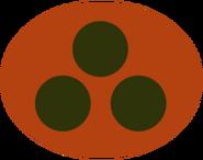 Concept overwatch soldier logo orange ellipse